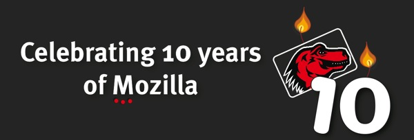 Celebrating 10 years of Mozilla