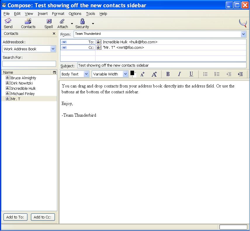 Windows 7 Thunderbird Contacts 0.3.6 full