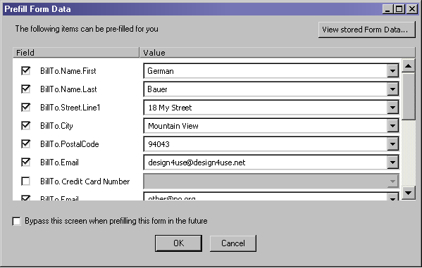Automatic Form Fill