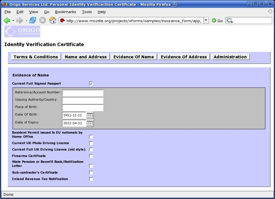 Mozilla XForms Project Sample Forms – Sample Form